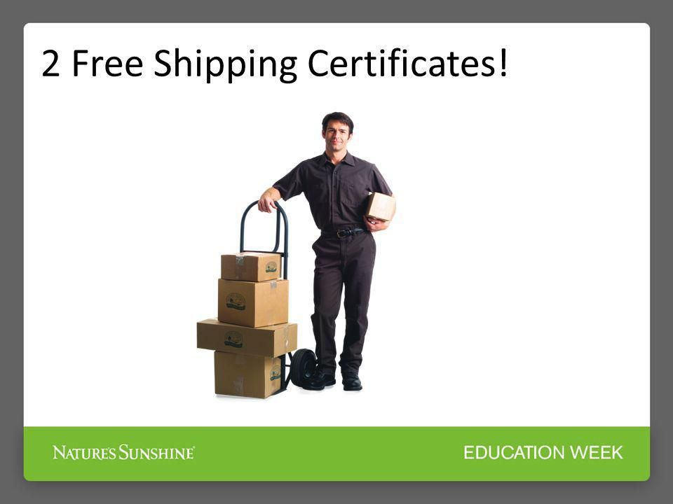 2 Free Shipping Certificates!