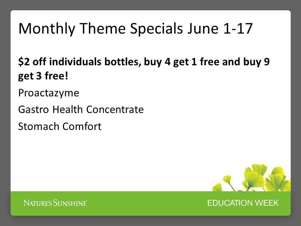 Monthly Theme Specials June 1-17