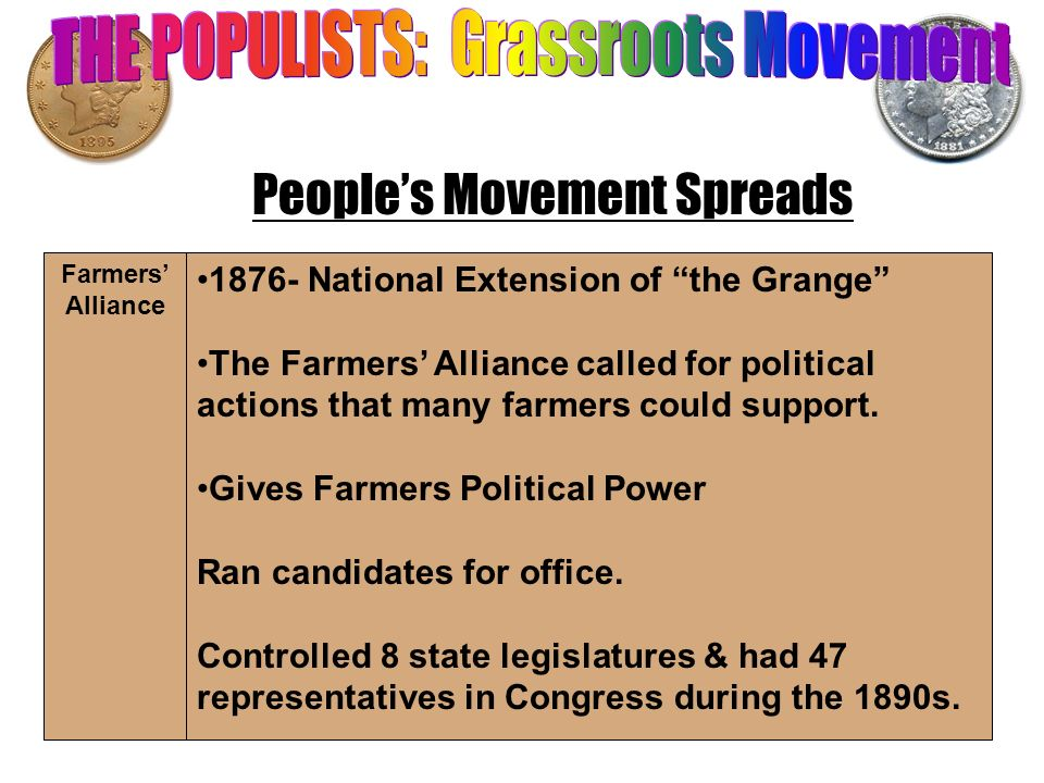 THE POPULISTS: Grassroots Movement