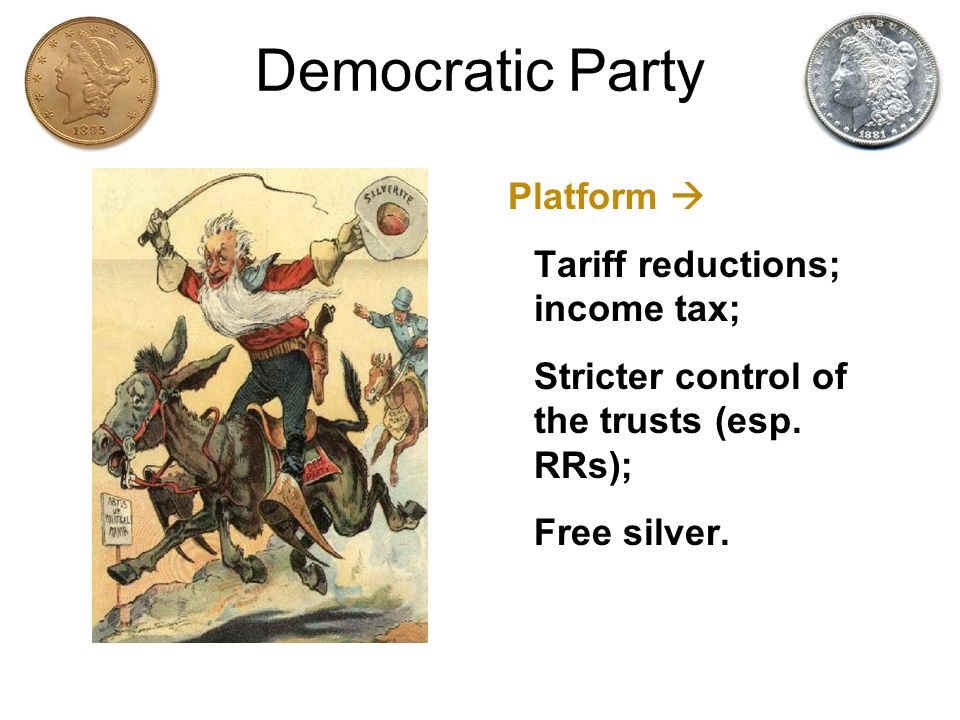 Democratic Party Platform  Tariff reductions; income tax;