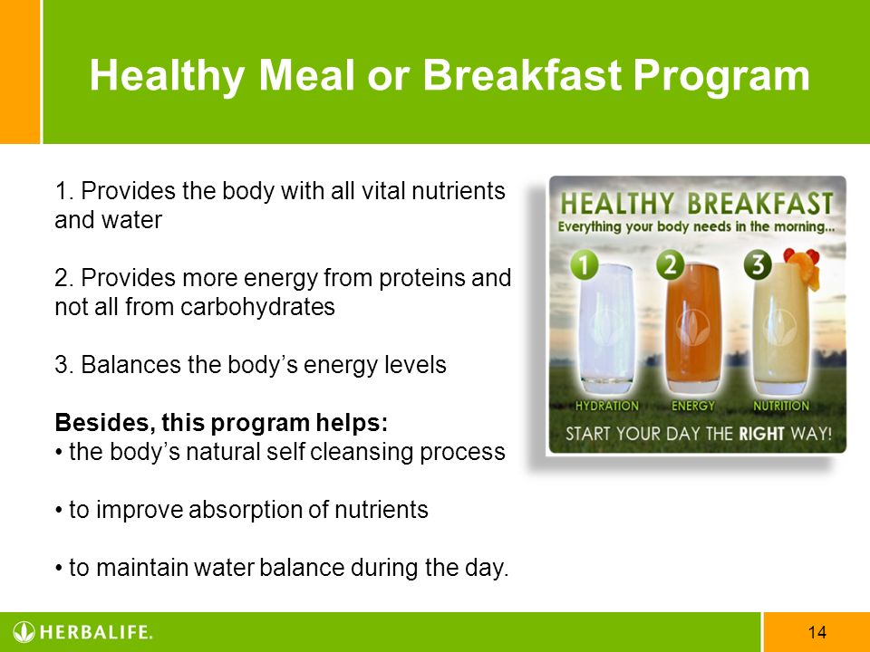 Healthy Meal or Breakfast Program