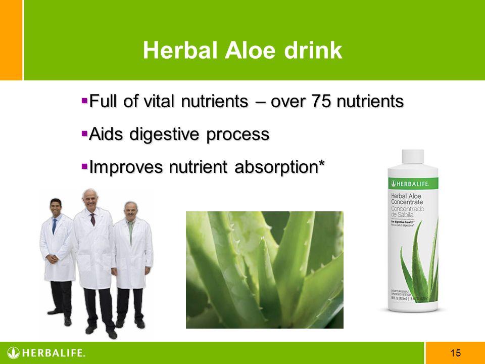 Herbal Aloe drink Full of vital nutrients – over 75 nutrients