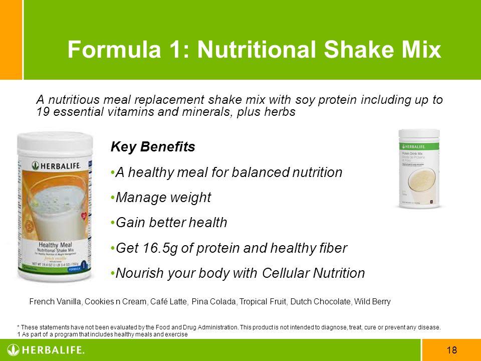 Formula 1: Nutritional Shake Mix