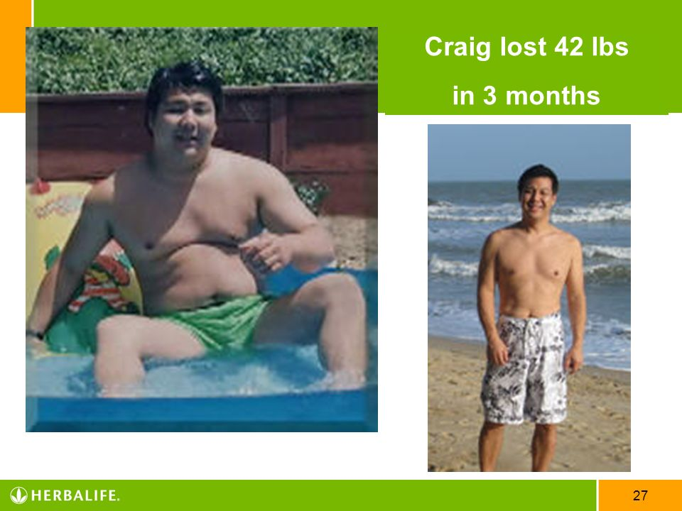 Craig lost 42 lbs in 3 months