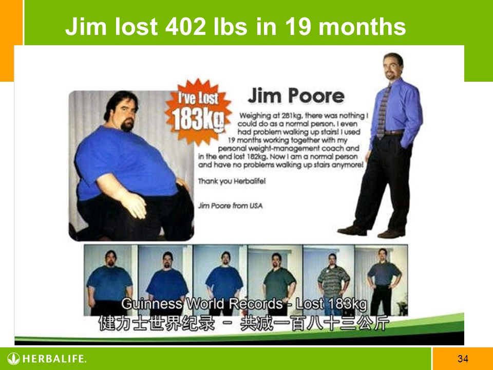 Jim lost 402 lbs in 19 months US English_STS CD 04/08/10