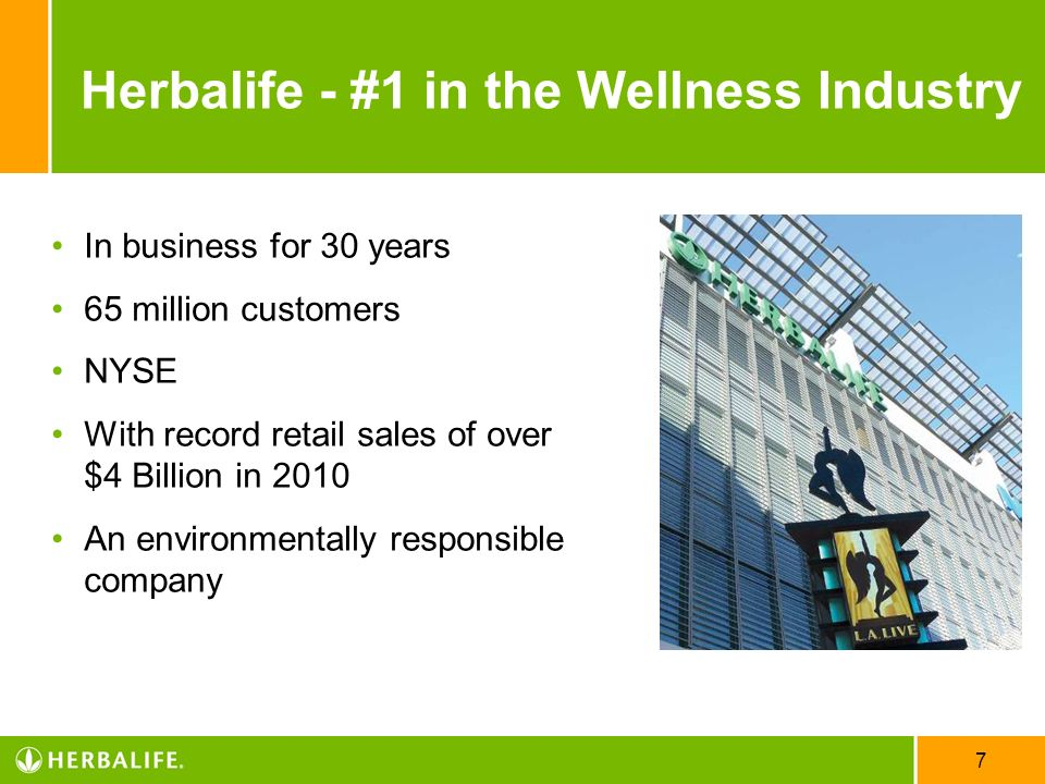 Herbalife - #1 in the Wellness Industry