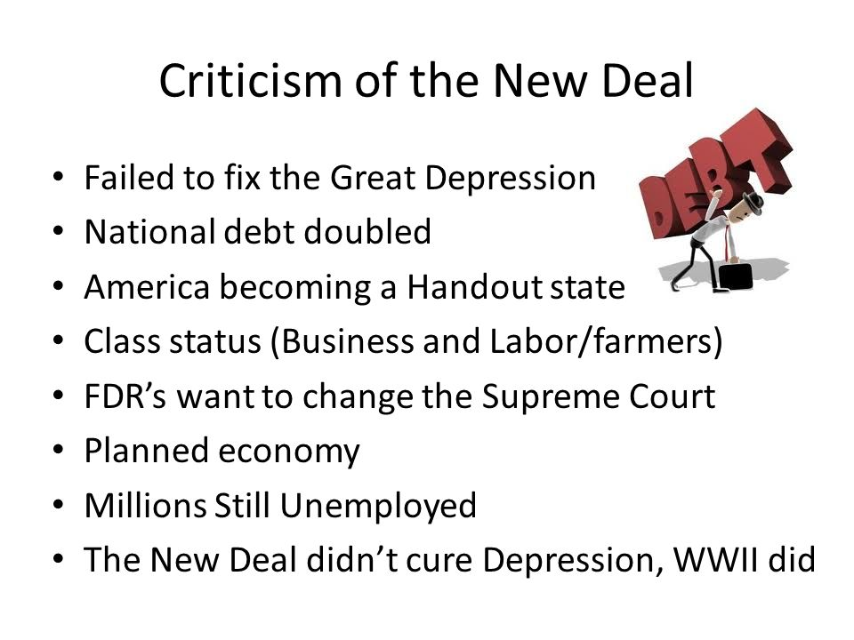 Criticism of the New Deal
