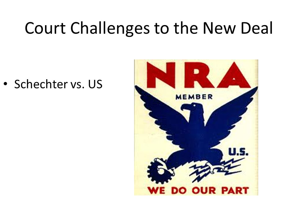Court Challenges to the New Deal