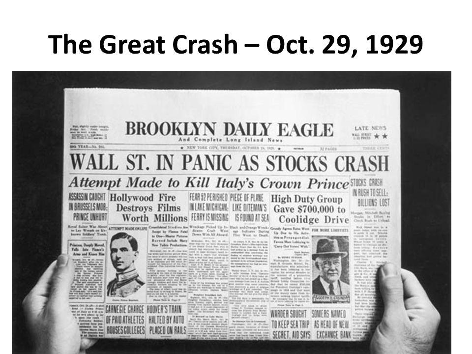 The Great Crash – Oct. 29, 1929