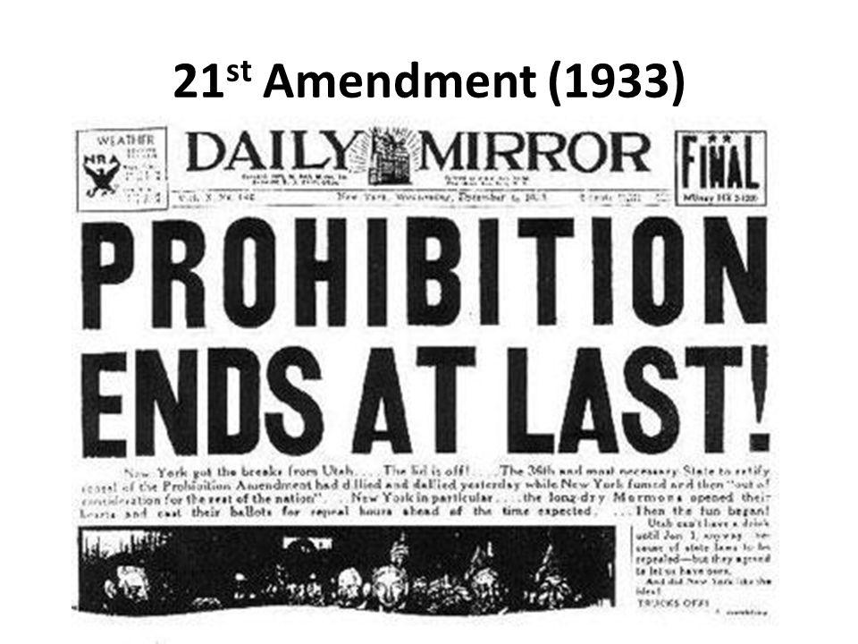 21st Amendment (1933)