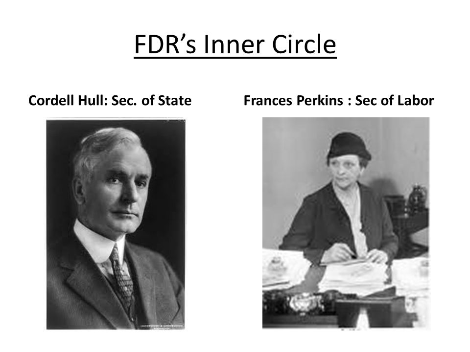 FDR's Inner Circle Cordell Hull: Sec. of State