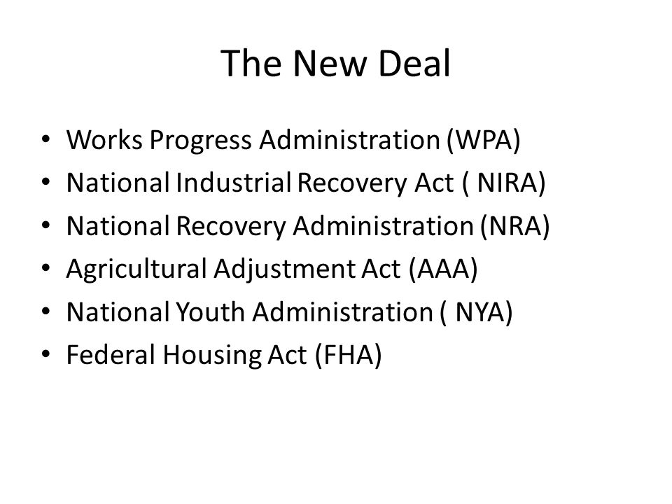 The New Deal Works Progress Administration (WPA)