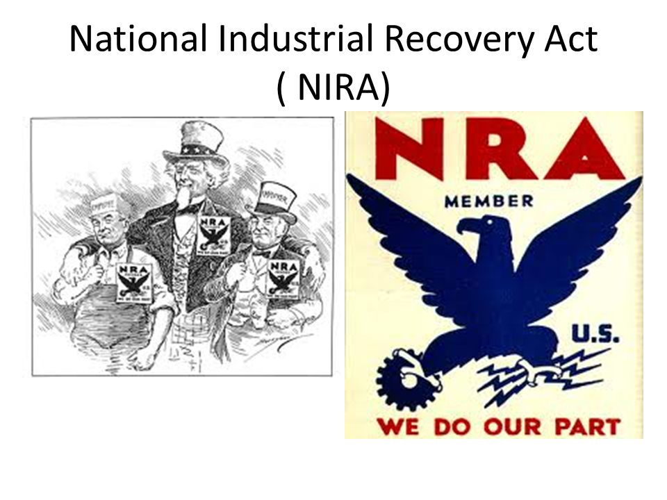 National Industrial Recovery Act ( NIRA)