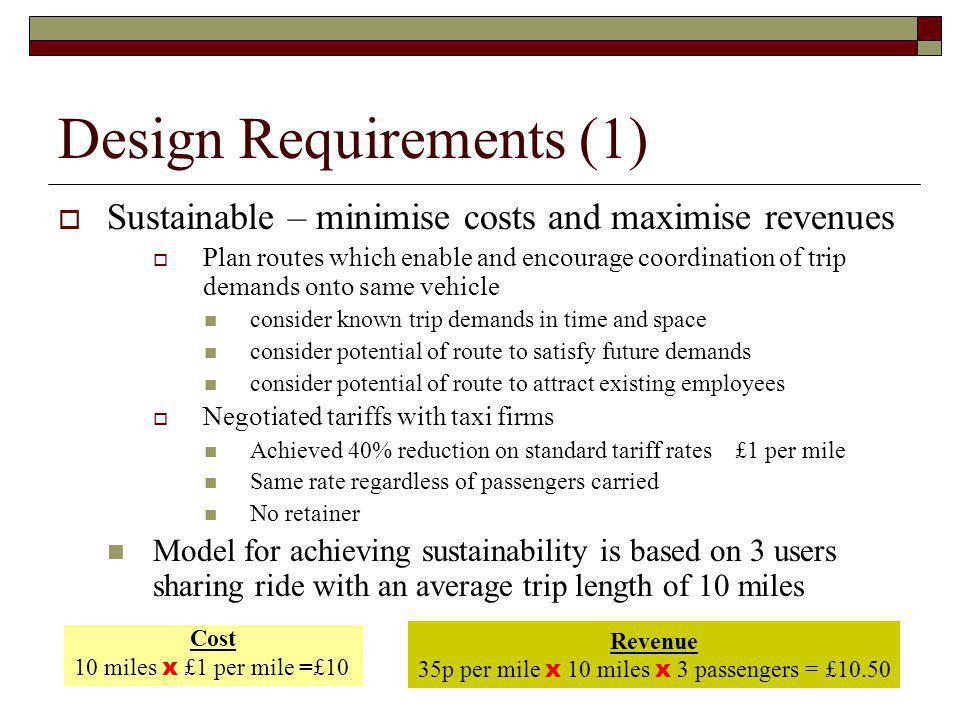 Design Requirements (1)