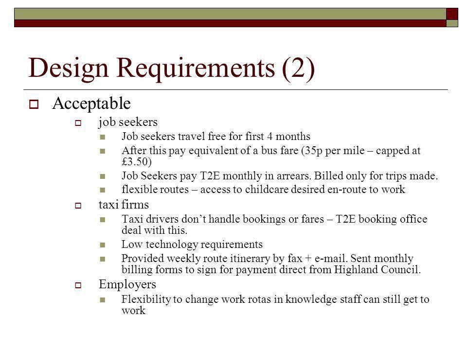 Design Requirements (2)