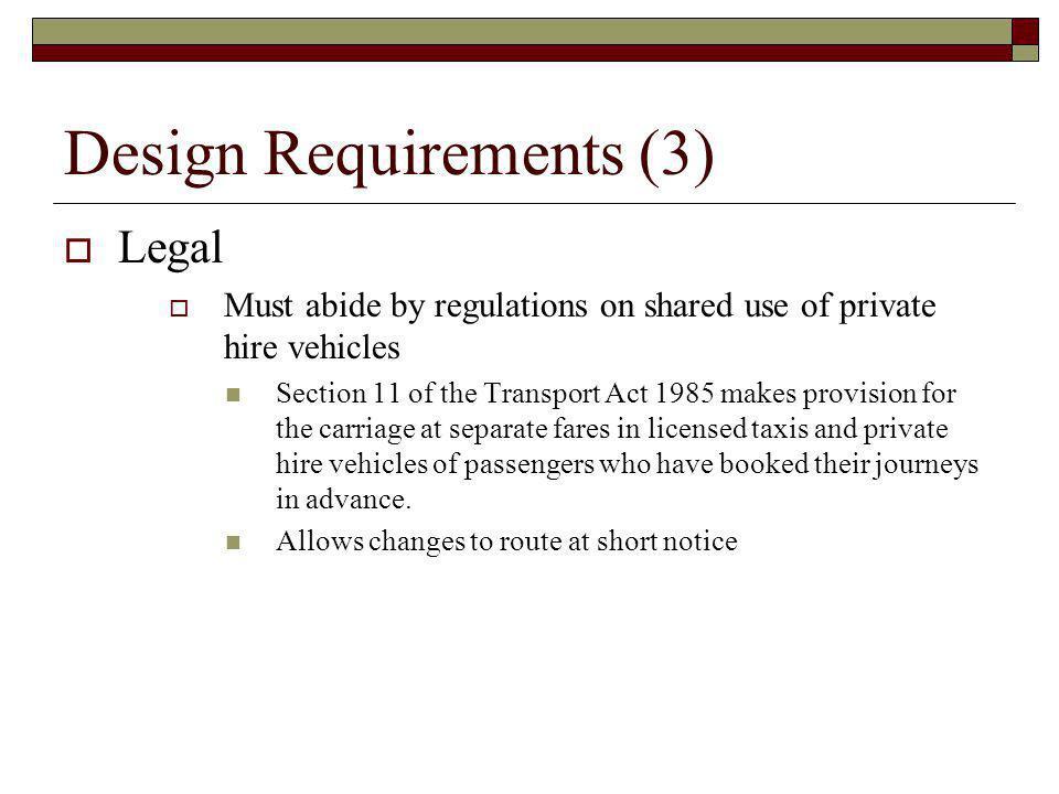 Design Requirements (3)