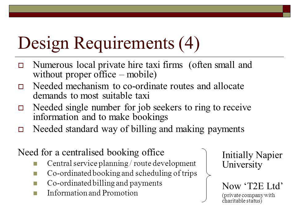 Design Requirements (4)