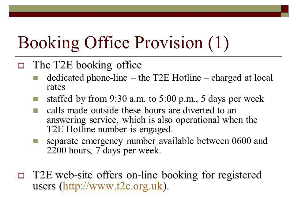 Booking Office Provision (1)