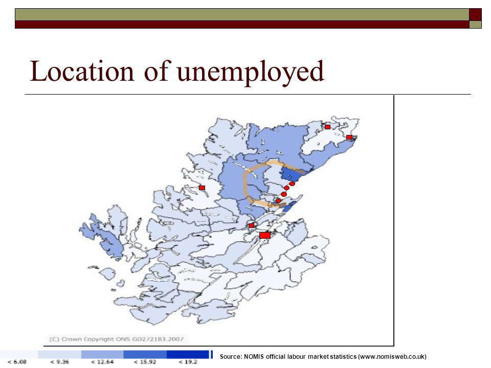 Location of unemployed