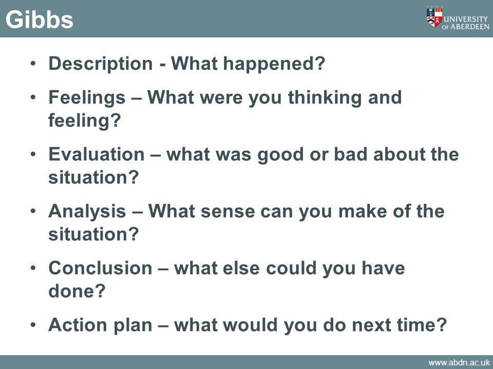 Gibbs Description - What happened
