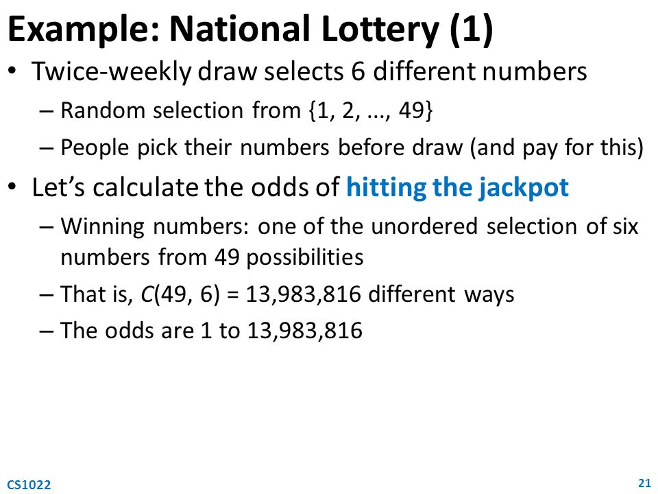 Example: National Lottery (1)