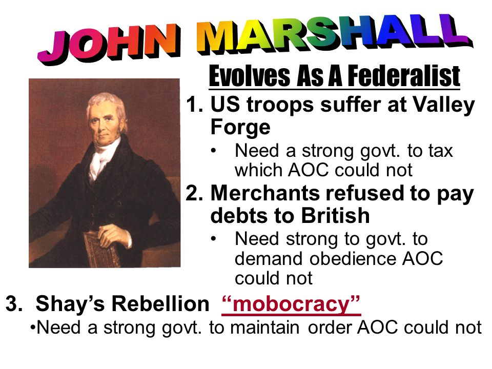 Evolves As A Federalist