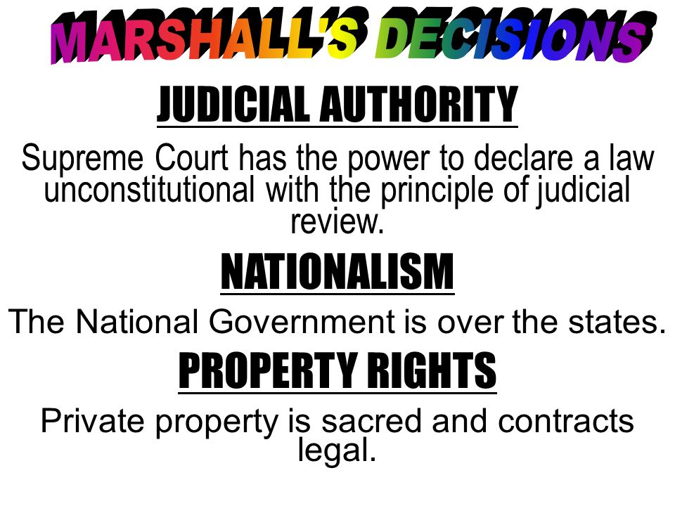 JUDICIAL AUTHORITY NATIONALISM PROPERTY RIGHTS