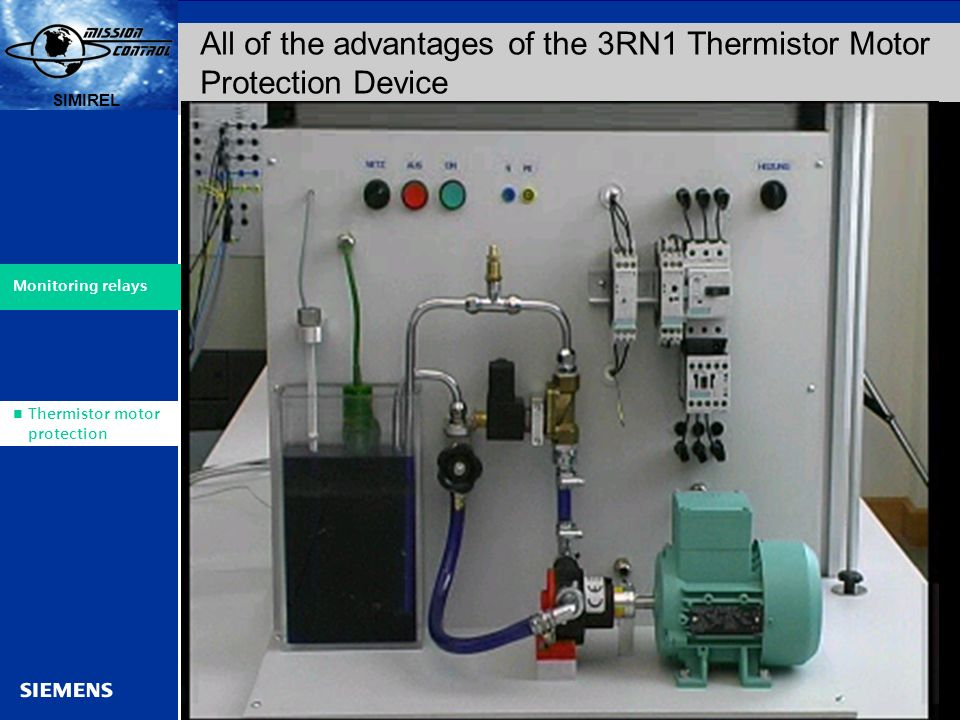 Simirel relays for every application ppt video online for Thermistor motor protection relay