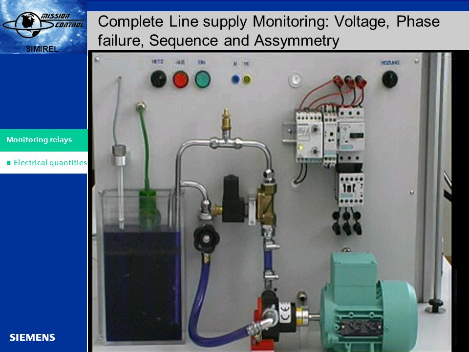 Complete Line supply Monitoring: Voltage, Phase failure, Sequence and Assymmetry