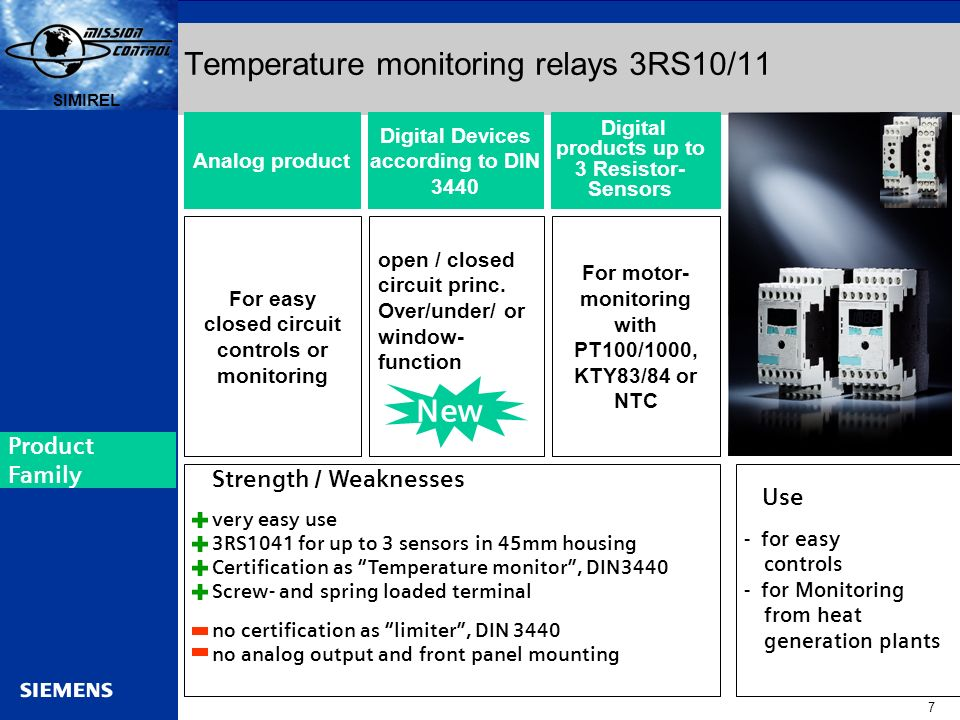 Temperature monitoring relays 3RS10/11