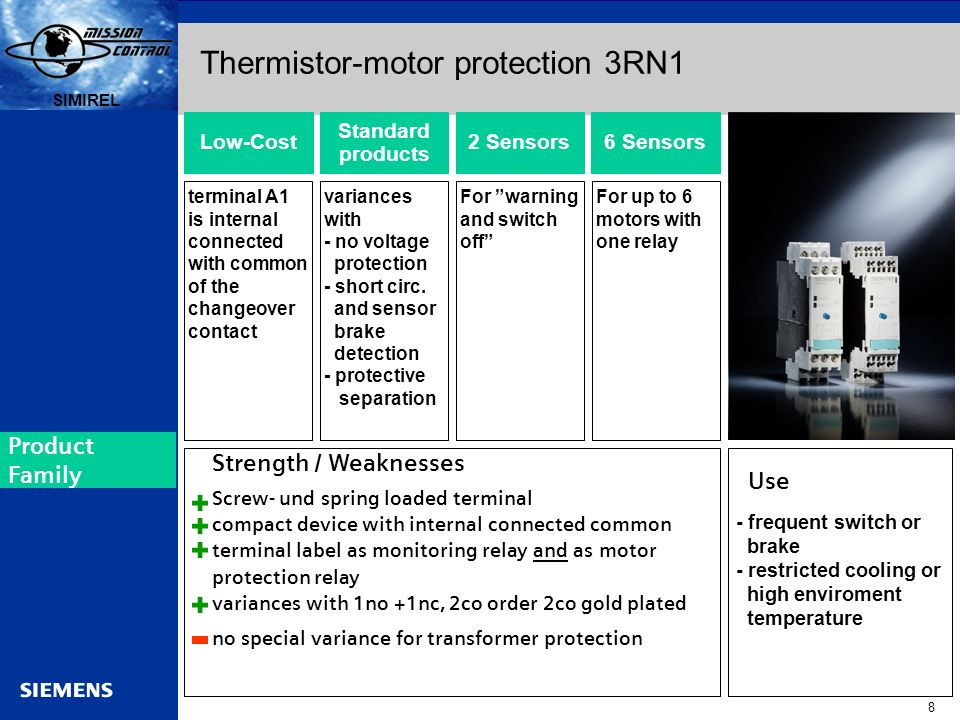 Thermistor-motor protection 3RN1