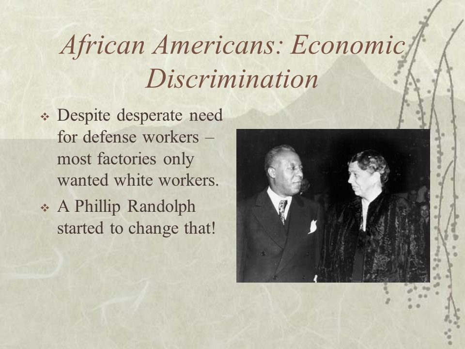 African Americans: Economic Discrimination