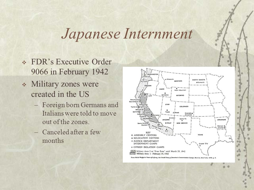 Japanese Internment FDR's Executive Order 9066 in February 1942