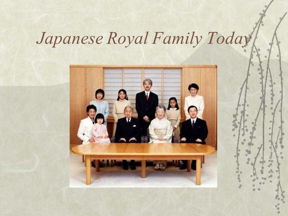 Japanese Royal Family Today