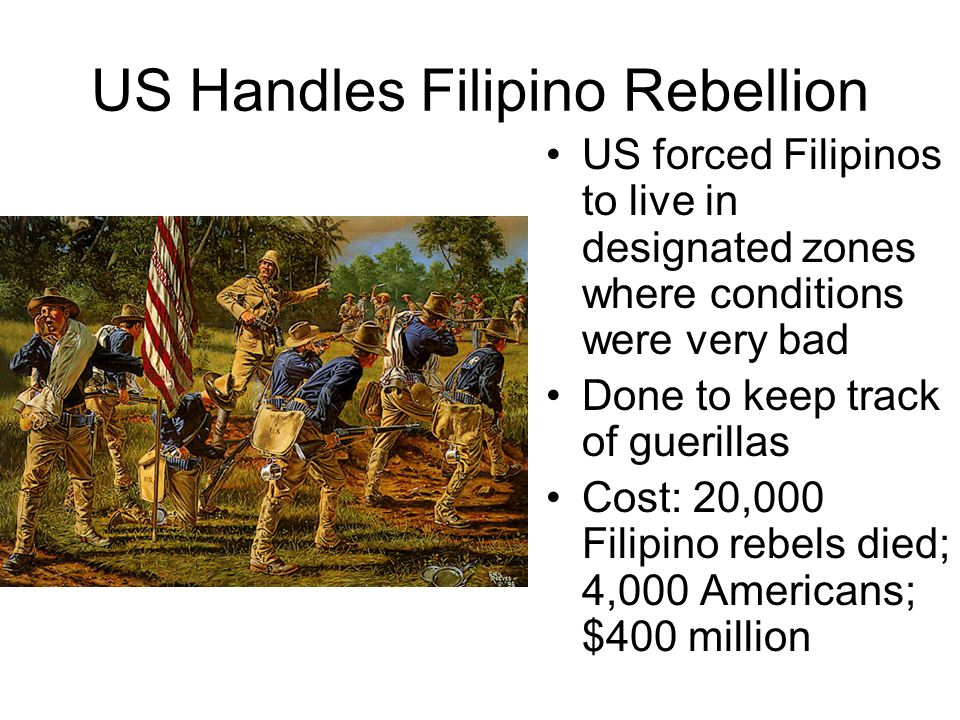 US Handles Filipino Rebellion