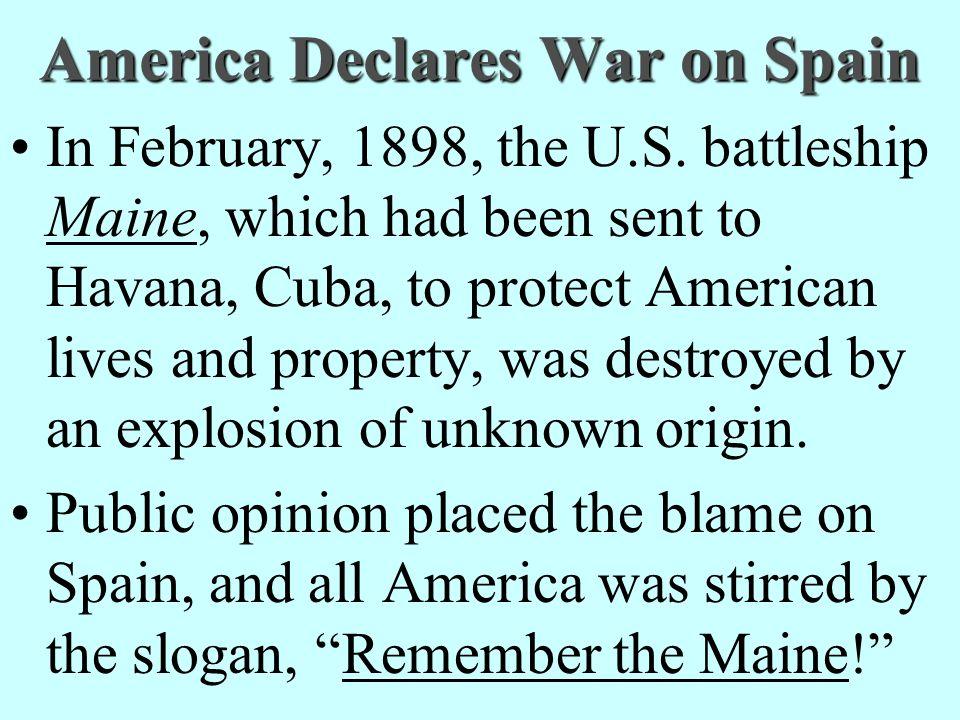 America Declares War on Spain