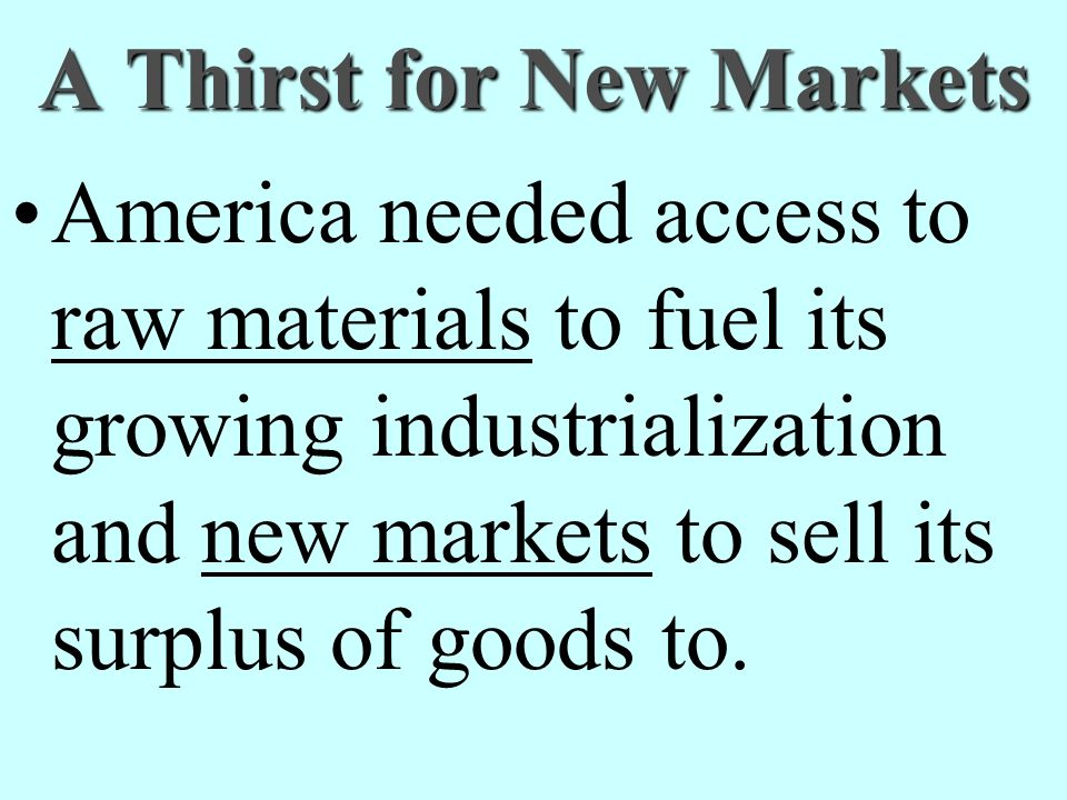 A Thirst for New Markets