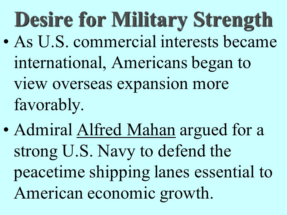 Desire for Military Strength
