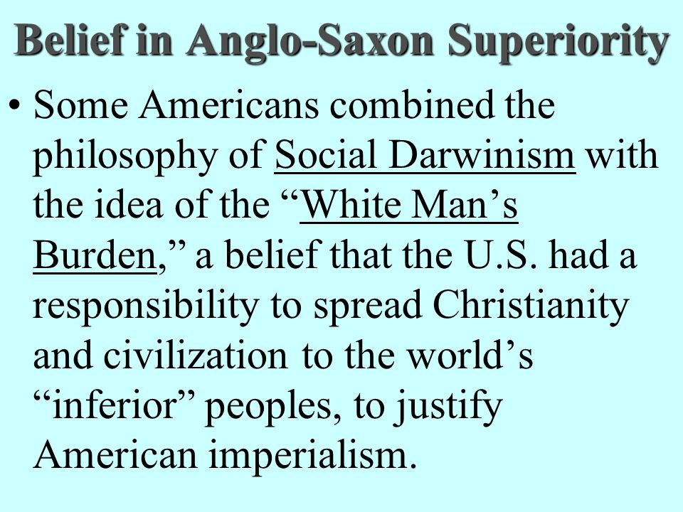 Belief in Anglo-Saxon Superiority