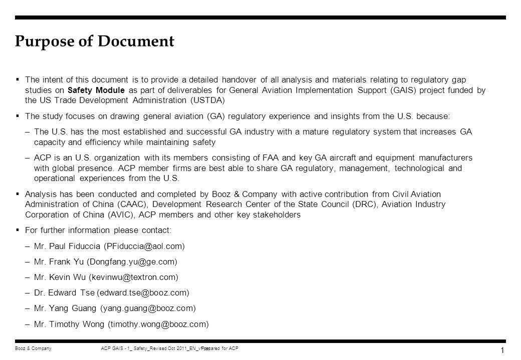 Purpose Of Document The Intent Of This Document Is To Provide A