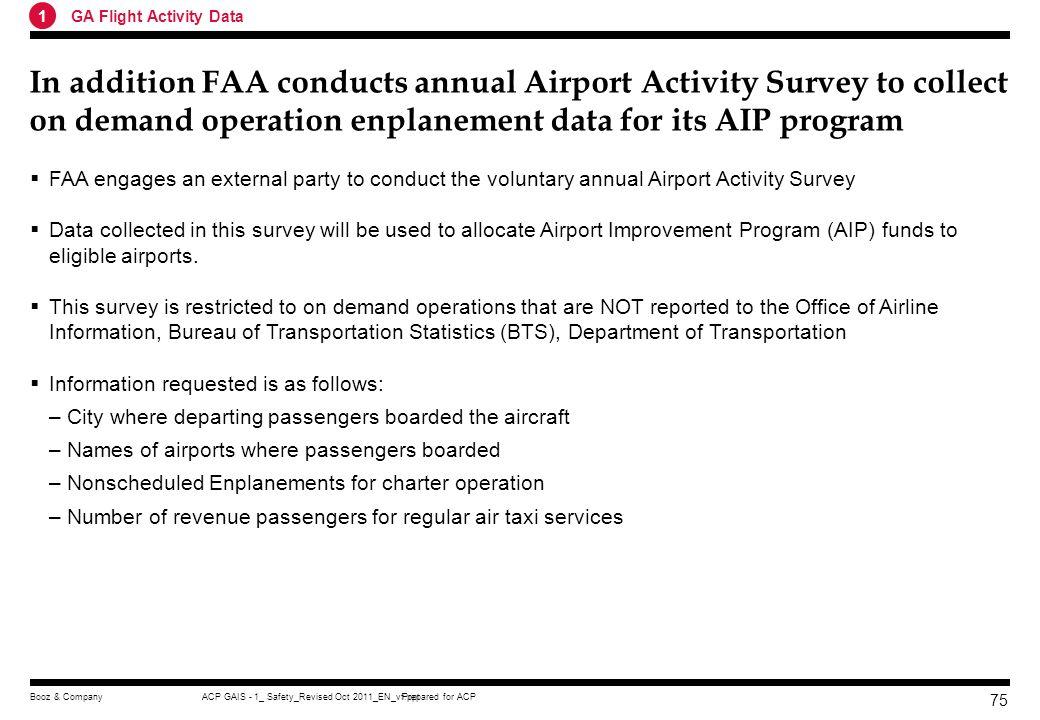 1 GA Flight Activity Data.