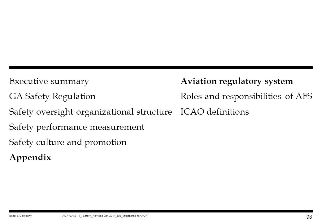 Aviation regulatory system Roles and responsibilities of AFS