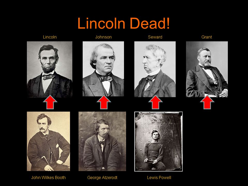 Lincoln Dead! Lincoln Johnson Seward Grant John Wilkes Booth
