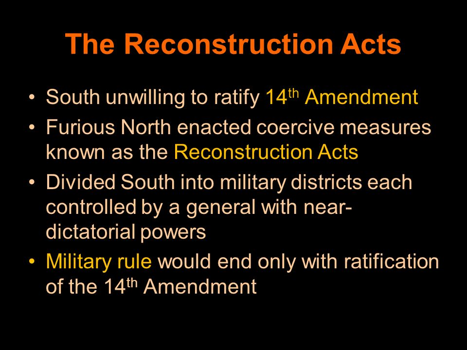 The Reconstruction Acts