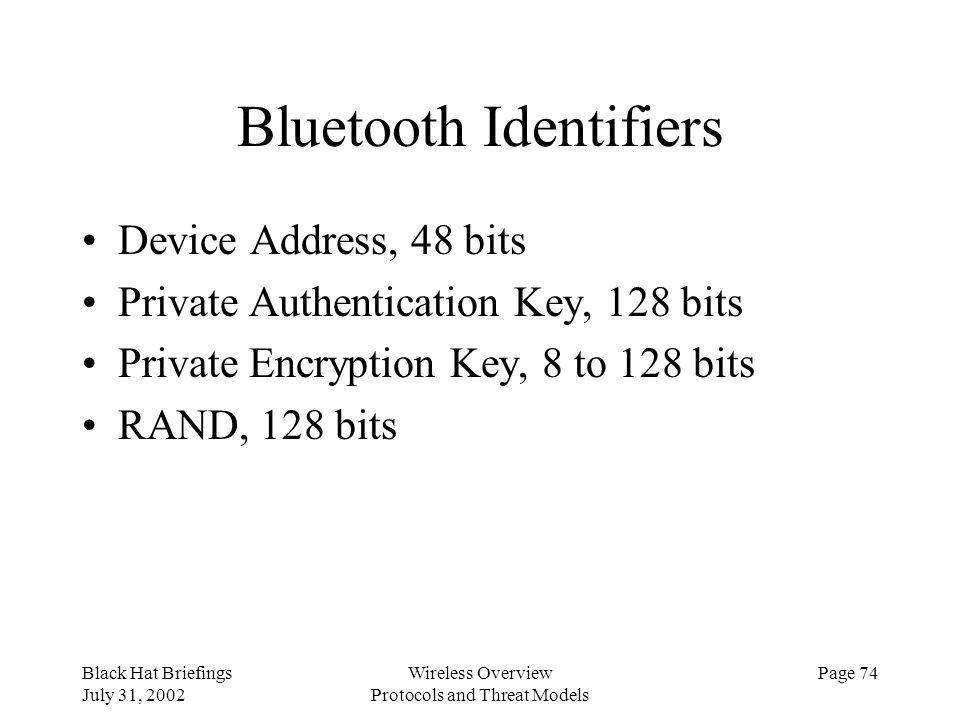 Bluetooth Identifiers