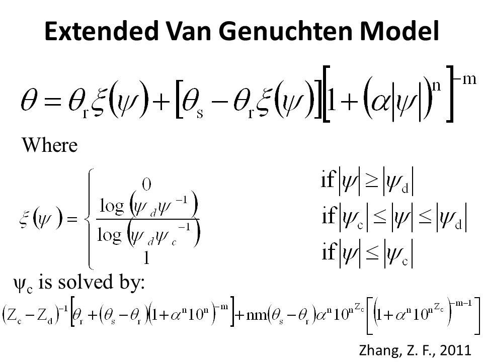 Extended Van Genuchten Model