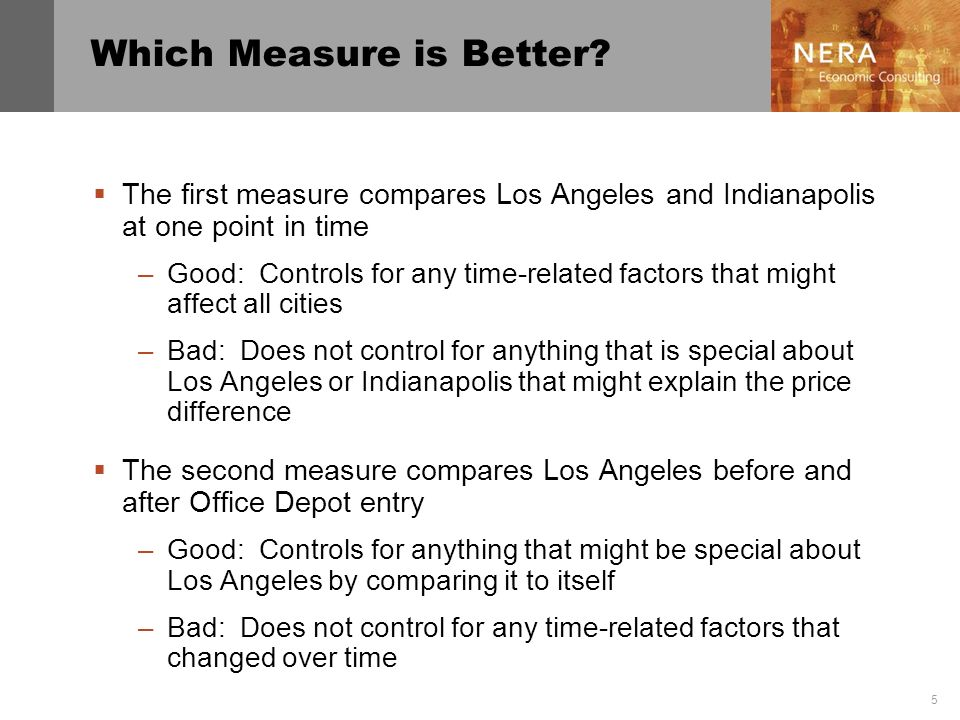 Which Measure is Better