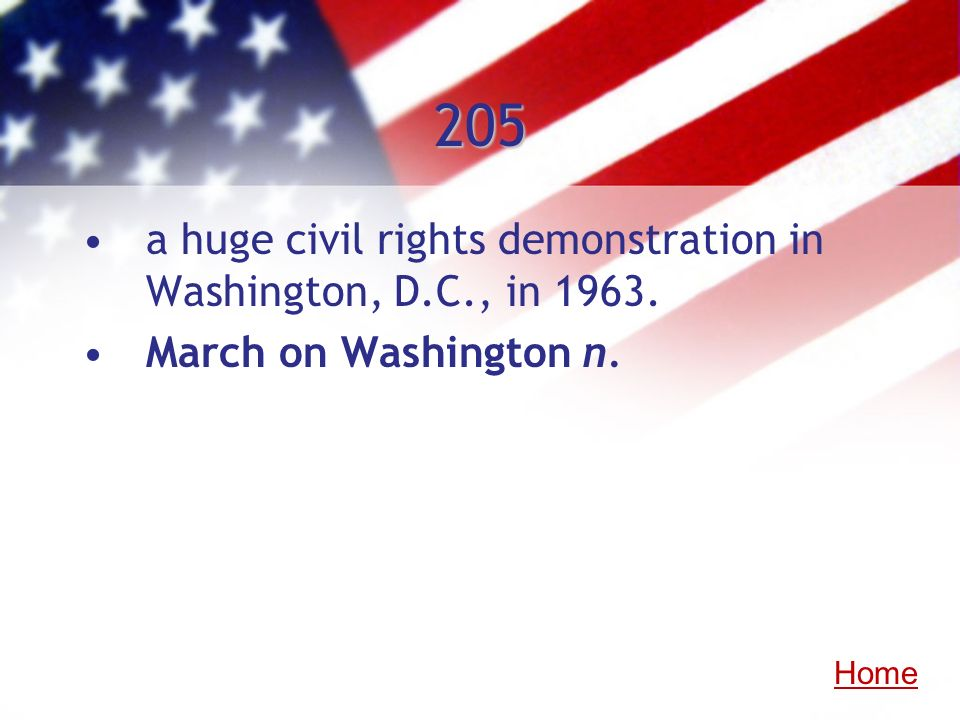 205 a huge civil rights demonstration in Washington, D.C., in 1963.