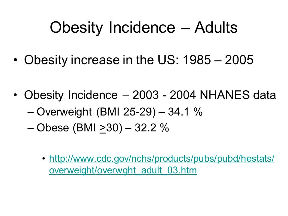 Obesity Incidence – Adults