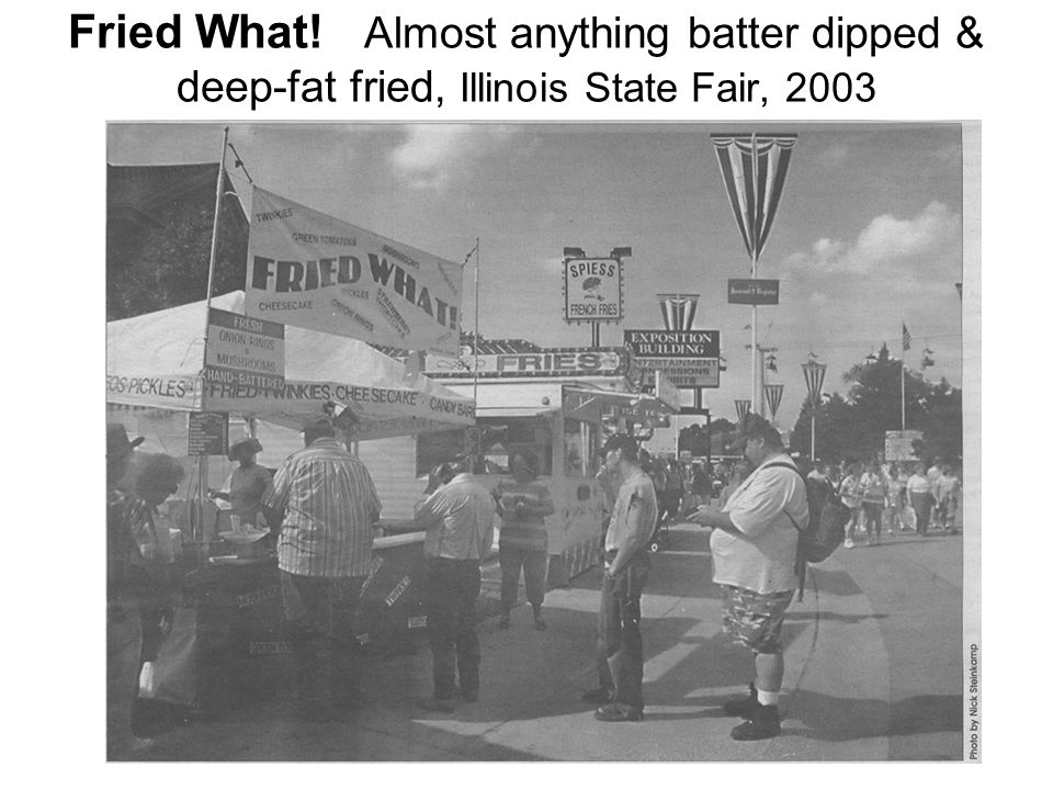 Fried What! Almost anything batter dipped & deep-fat fried, Illinois State Fair, 2003